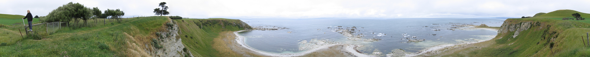 Panographic Image from Kaikoura, South Island, New Zealand