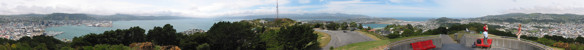 Panographic Image from Mount Victoria, Wellington, New Zealand