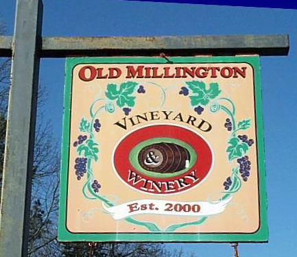 Old Millington Winery Sign
