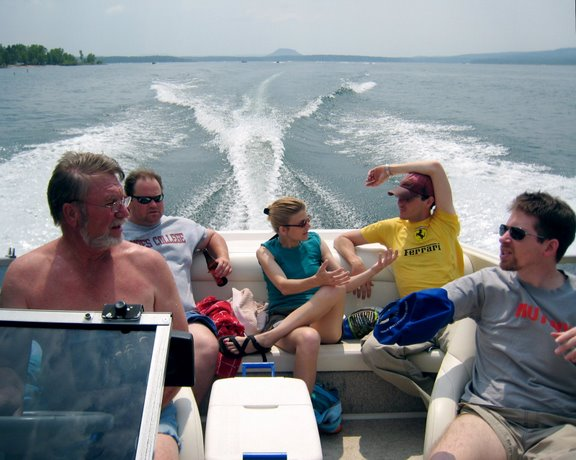 Crusing in the boat
