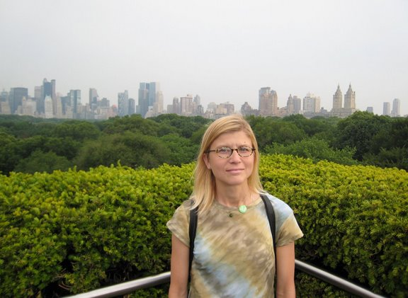 Kath on the roof of the Met