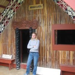 Kath by Maori Meeting House