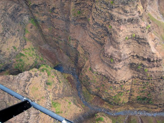 Waimea Canyon from the helicopter