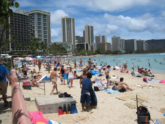 Waikiki on July 4th