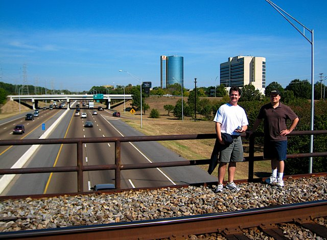 Robert and Richie Standing Above I-240