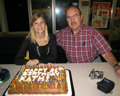 Kath, Her Dad, and the Cake