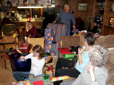 Opening Presents at the Penningtons