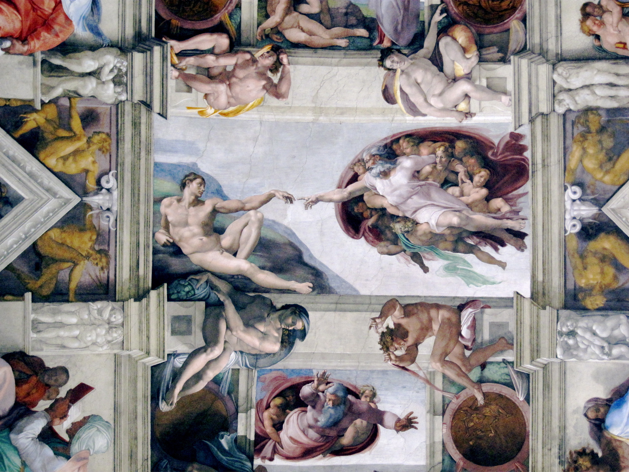 the painting of the sistine chapel Dr beth harris and dr steven zucker provide a description, historical perspective, and analysis of michelangelo's ceiling of the sistine chapel michelangelo, ceiling of the sistine chapel, fresco, 1508–1512 (vatican city, rome) to any visitor of michelangelo's sistine chapel, two features.