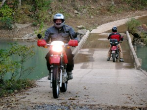 Scottie and David at the Big Piney Bridge