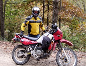 truk and His KLR 650