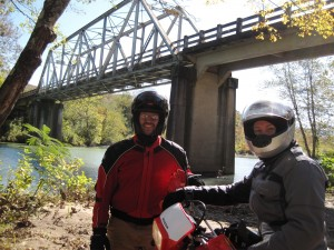David and Scottie Under the One-Lane Bridge