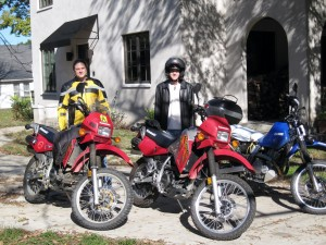 truk and Dave with the KLR 650s
