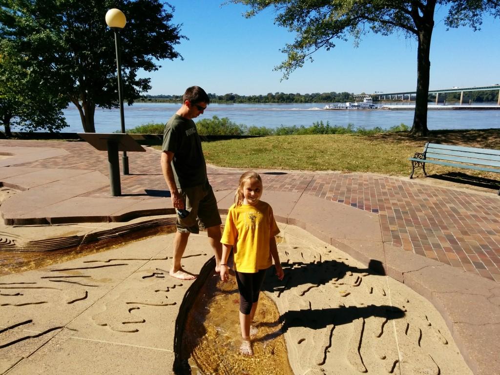 Scott and Lia Walk the Mississippi River Model